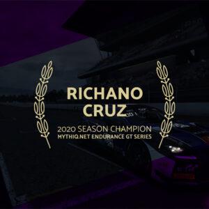 R. Cruz wins champion title of 2020 Mythiq.net Endurance GT Series!